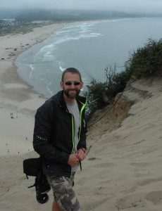 Mr. Magill on the cape in Pacific City, OR.